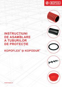 Instrucțiuni de asamblare a tuburilor de protecție KOPOFLEX® și KOPODUR®