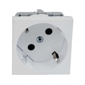 QS 45X45 C HB - zásuvkový modul QUADRO s ochrannými kontakty a clonkami (schuko)