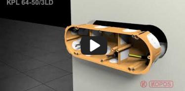 Embedded thumbnail for Doza dubla pentru aparataj clasic, instalare in peretii aparenti KPL 64-50/3LD