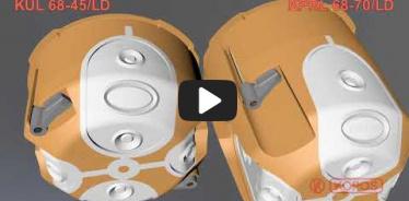 Embedded thumbnail for Doza dubla pentru aparataj clasic, instalare in peretii aparenti KUL 68-45/LD și KPRL 68-70/LD